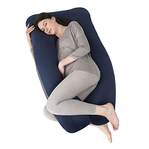 OYOWUOT Pregnancy Pillow U Shape with Removable Soft Velvet Cover