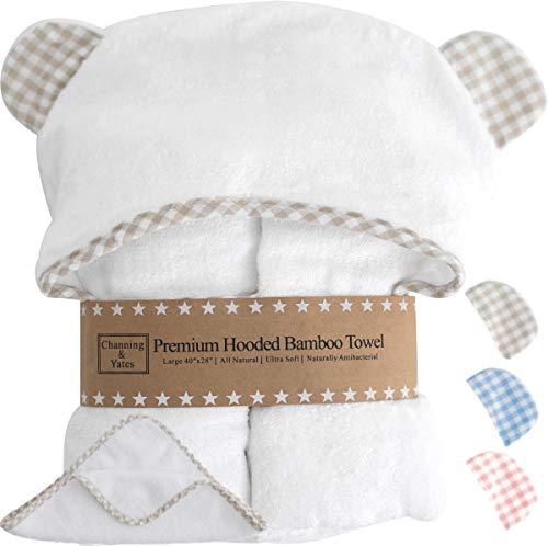 Organic Baby Towel with Hood and Washcloth Gift Set
