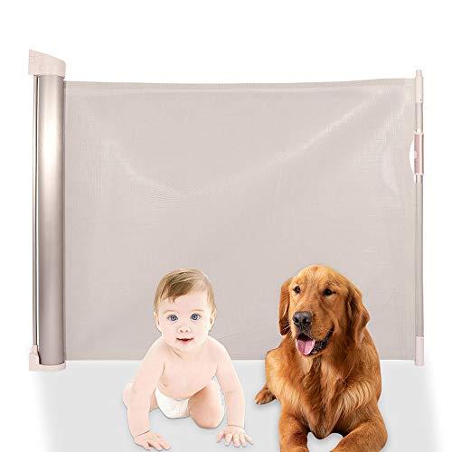 Bigzzia Retractable Dog Playpen,Indoor Safety Gates