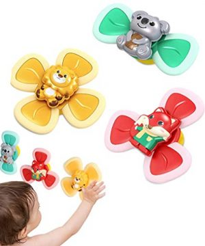 3Pcs Animal Suction Cup Spinning Top Toy for Children