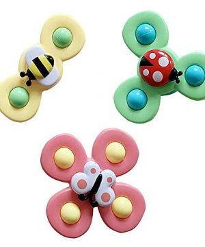 Baby Bath Spinner Toy with Rotating Suction Cup
