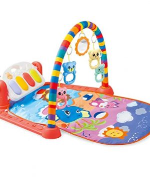 Baby Piano Gym Playmat with Hanging Music Toys