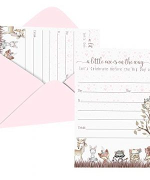 Woodland Friends Baby Shower Invitations (15 Guests)