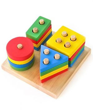 Wooden Stacking Toys & Shape Sorting Board