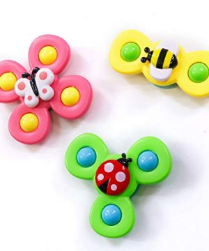 3PCS Suction Cup Spinning Top Toy