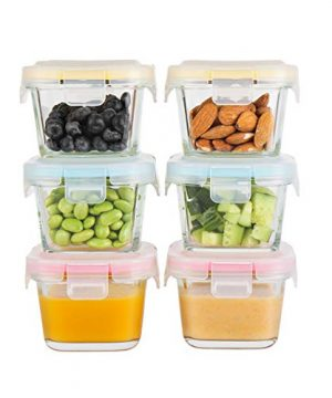Doonmi - Glass Baby Food Storage Containers