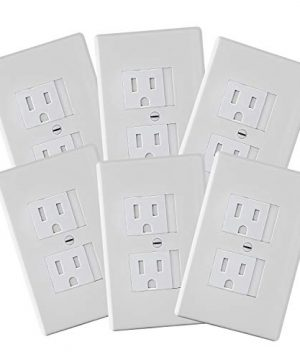 6-Pack Safety Innovations Self-closing Standard Outlet Covers