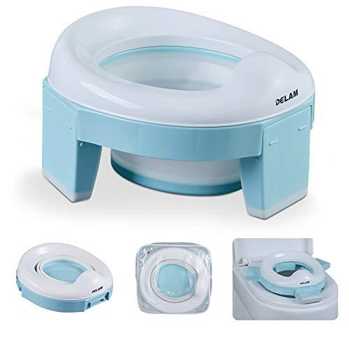 Delam Portable Travel Potty for Toddler Kids, Emergency Toilet for Car