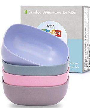 4pcs Bamboo Kids Bowls (20oz) for Baby Feeding