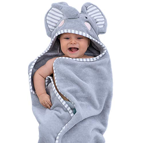 TBEZY Baby Hooded Towel with Unique Animal Design