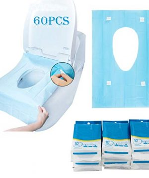 60 Counts Disposable Toilet Seat Covers- 15.7 × 23.6 Inch