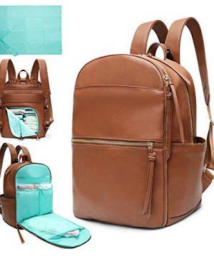 Diaper Bag Backpack Mominside Leather Diaper Bag