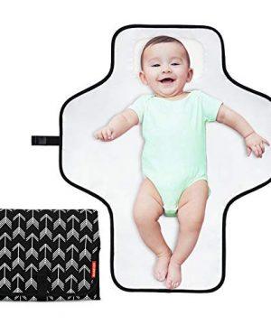 BABEYER Portable Changing Pad,Large Waterproof Diaper Changing Mat