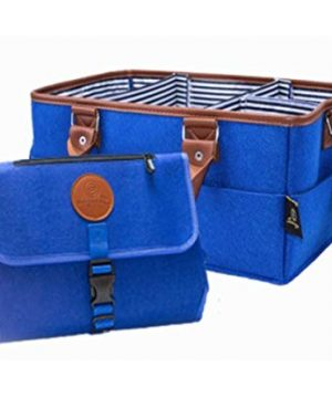 Baby Diaper Caddy Organizer Tote with Portable Changing Pads