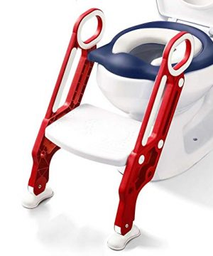 Potty Training Toilet Seat with Step Stool Ladder for Kids