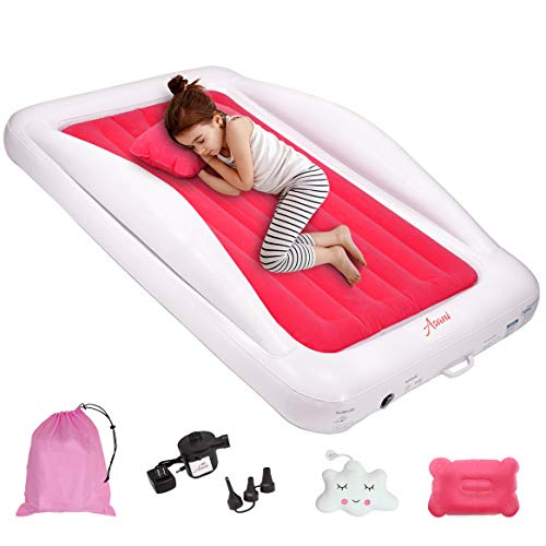 Inflatable Toddler Travel Bed with Electric Pump, Leakproof Air Mattress