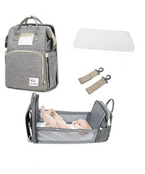 Born Blessings 3 in 1 Diaper Bag with Bassinet