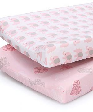 The Peanutshell Changing Pad Covers for Baby Girls