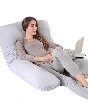 """CDEN Pregnancy Pillow, U Shaped Full Body Pillow 55"""""""