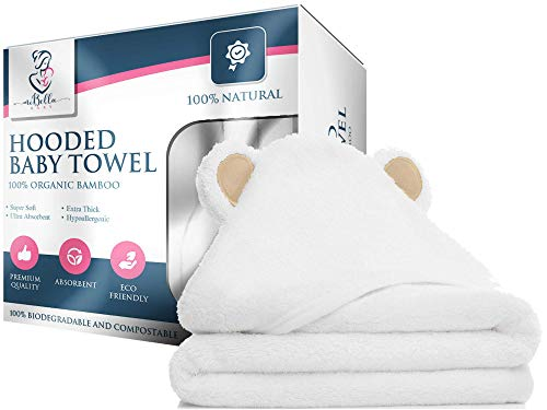 100% Bamboo Hooded Baby Towel By Mi Bella Baby