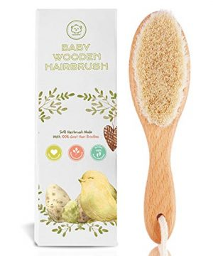 Baby Hair Brush for Newborn - Natural Wooden