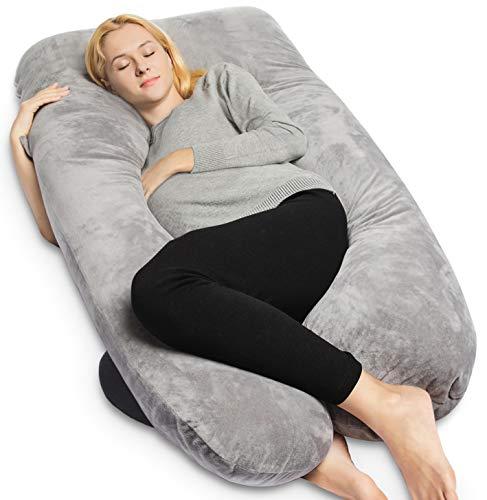 QUEEN ROSE Pregnancy Pillow with Velvet Cover