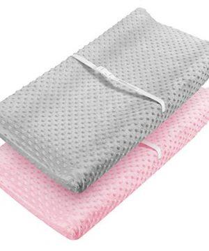 Babebay Changing Pad Cover - Ultra Soft Minky Dots Plush