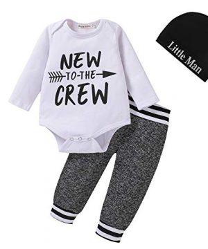 3Pcs Baby Boys Clothes Sets, Cute Letters Print