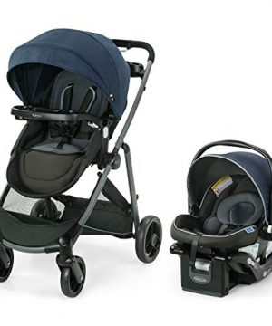 Baby Stroller with Reversible Seat Car Seat