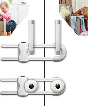 6PCS Sliding Cabinet Locks, U-Shaped Child Safety Locks