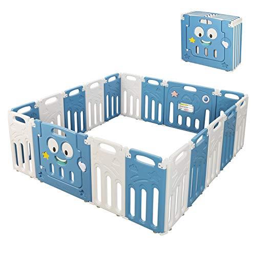 Moromuu Baby Playpen, 18 Foldable Panel
