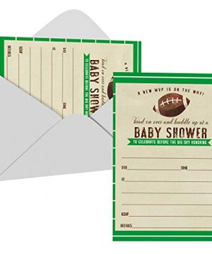 Huddle Up Baby Shower Invitations with Envelopes (25 Pack)