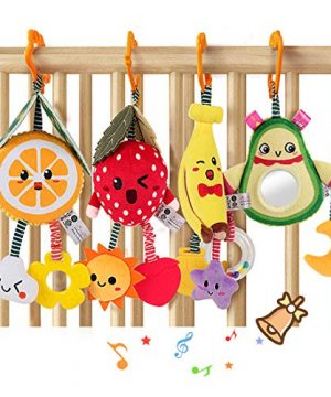 TUMAMA Baby Toys for 3 6 9 12 Months,Hanging Fruit