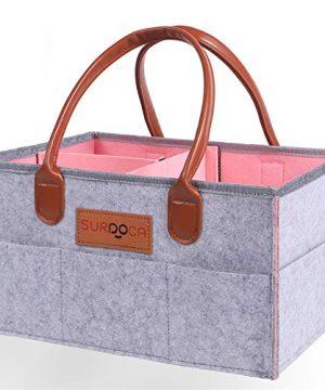 SURDOCA Baby Diaper Caddy Organizer-Portable Nappy Changing