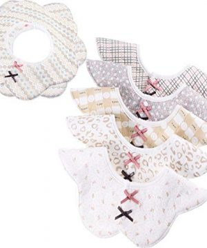 360° Rotate Bibs for Baby Girl Soft Cotton Drooling