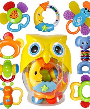 Babies Grab Shaker and Spin Rattle Toy Early Educational Toys