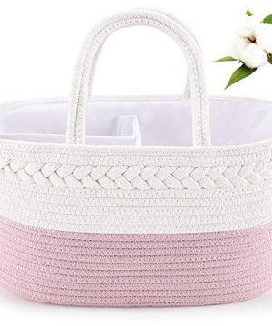 Baby Diaper Caddy Organizer, ABenkle Cotton Rope Diaper Storage Basket