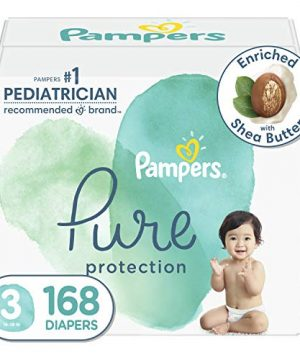 Diapers Size 3, 168 Count - Pampers Pure Protection Disposable Baby Diapers