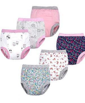 BIG ELEPHANT Baby Girls' Toddler Potty 6 Pack Padded