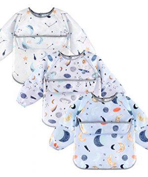 Long Sleeve Easy Clean Bib for Babies