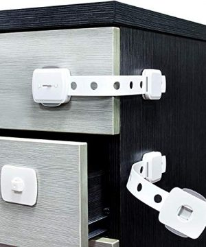 (6PACK) Child Safety Strap Locks,Baby Locks for Cabinets