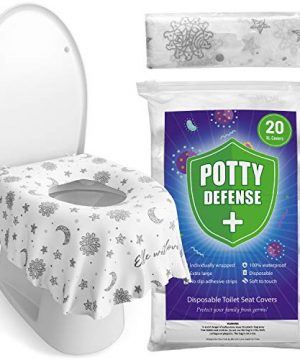 20 Pack XL Disposable Toilet Seat Covers for Kids and Adults by Eli with Love