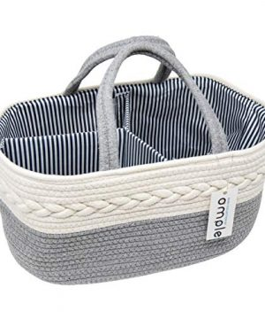 Baby Diaper Caddy Organizer-Rope Diaper Caddy-Cotton Rope