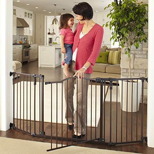 """Toddleroo by North States 72"""" wide Deluxe Décor Baby Gate"""
