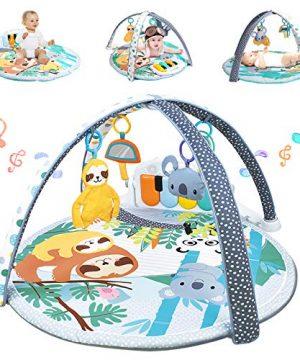 WYSWYG Baby Play Mat Piano Gym 3-in-1 Infant Playmat