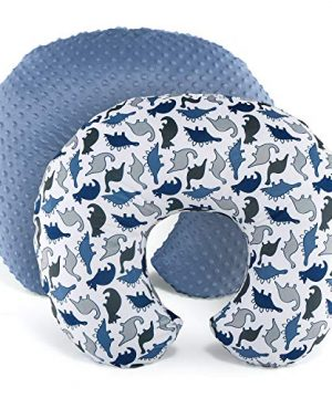 The Peanutshell Nursing Pillow Cover Set for Baby Boys or Girls