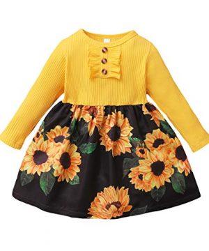 Baby Girls' Playwear Dresses Long Sleeve