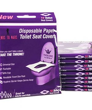 100 Disposable Toilet Seat Covers – Flushable Toilet Seat Covers for Kids
