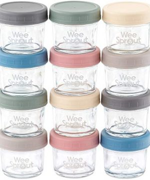 Glass Baby Food Jars with Lids Storage Containers