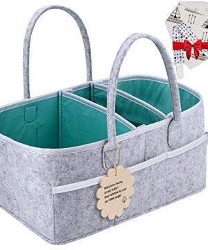 Baby Diaper Caddy Organizer - Shower Registry Gift Basket